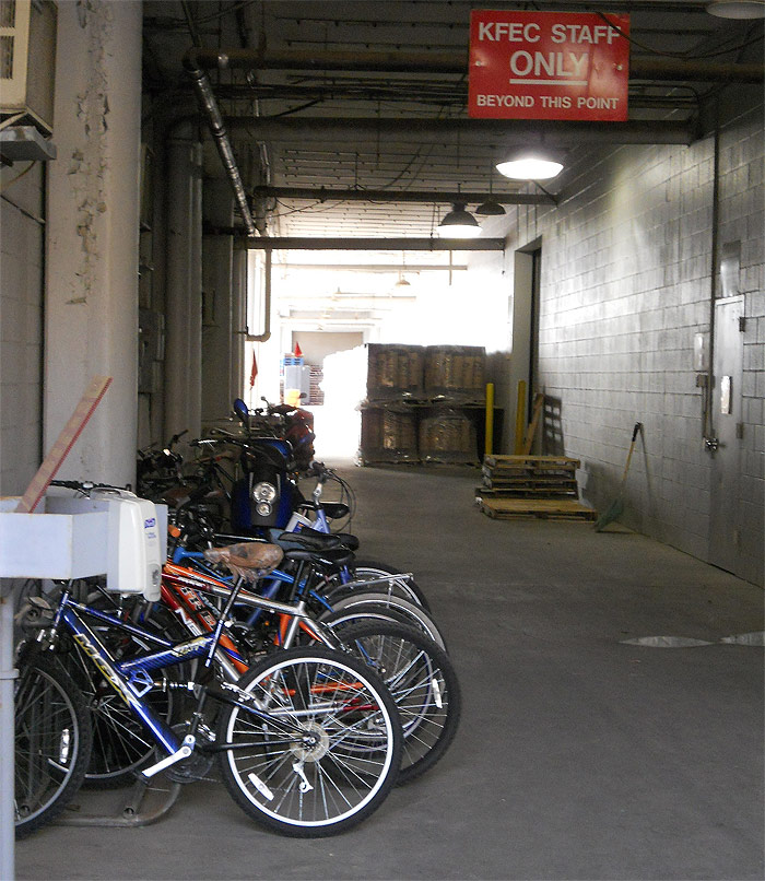 KFEC employee bikes parked at the fairgrounds. (Courtesy Bicycling for Louisville)