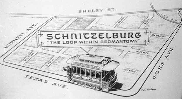 The old Schnitzelburg trolley loop. (Courtesy G-town/S-burg B