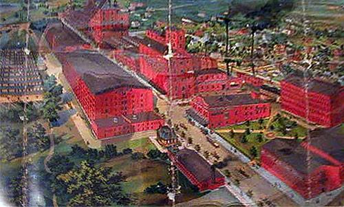 A lithograph of the facility circa 1900. (Courtesy Fred K / Sipp'n Corn)