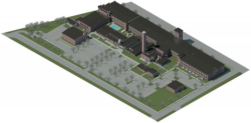 Site plan for the Germantown Mill Lofts. (Courtesy Underhill Associates)