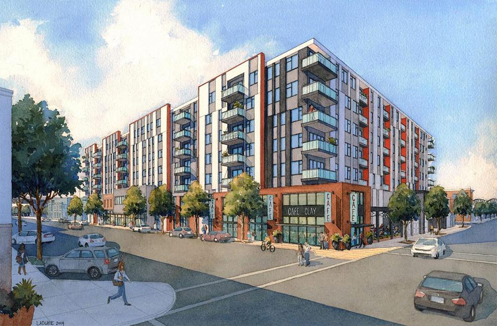 Rendering of Bristol's Main & Clay development. (Courtesy Bristol Development)