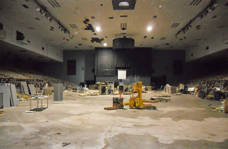 Interior of the armory circa February 2014. (Courtesy Opportunity Space)