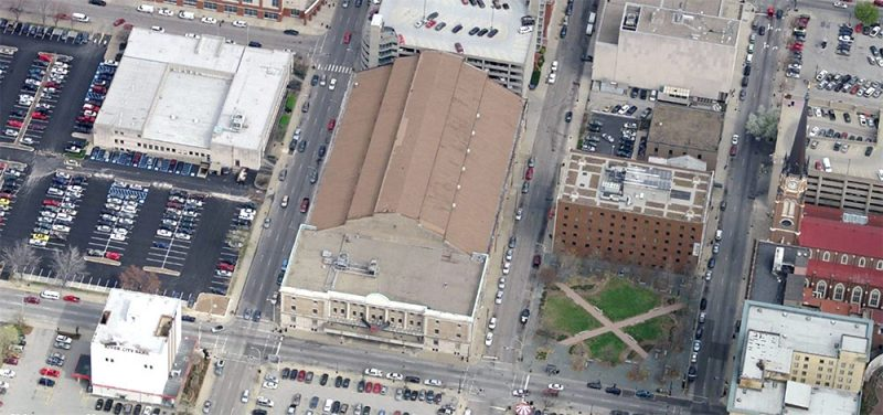 Aerial view of the armory site. (Courtesy Bing)