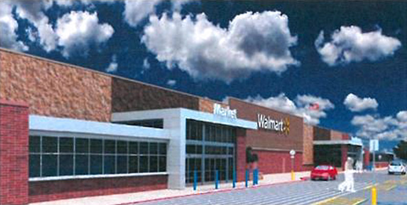 Rendering of the planned West End Walmart. (Courtesy Walmart)