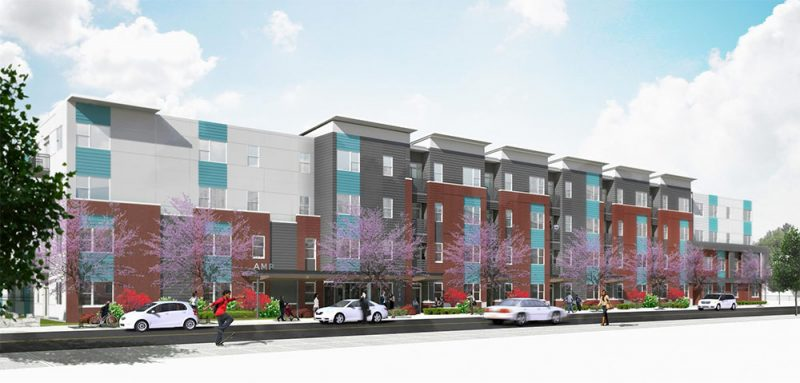 The AMP apartments. (Courtesy Milhaus)