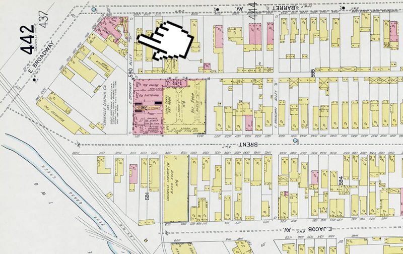 The buildings appear on a 1905 map of the area. (Courtesy KYVL)