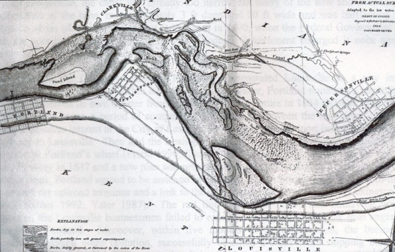A map of Louisville from 1824. (Courtesy KY Heritage Council)