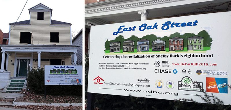 East Oak Street redevelopment project by New Directions Housing Corporation. (Elijah McKenzie / Broken Sidewalk)
