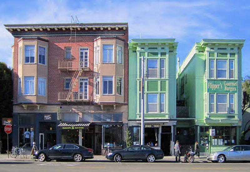 Older, smaller buildings in Hayes Valley, San Francisco. (Jim Lindberg / Courtesy National Trust)