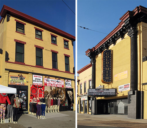 Two historic buildings directly across the street from the planned Walmart. (Kentucky Photo File / Flickr)