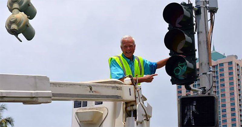 Honolulu Mayor Kirk Caldwell celebrated a milestone on Monday. (Courtesy City of Honolulu)