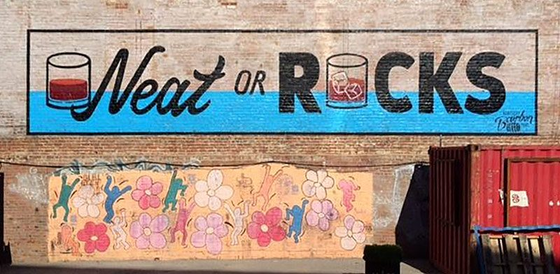 The bourbon-themed mural at the Resurfaced site. (Courtesy Resurfaced)