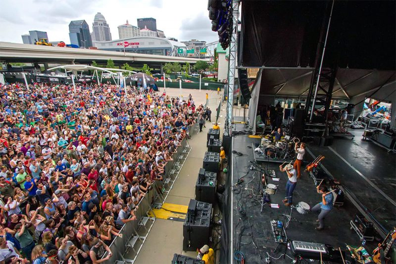 Crowds pack the Forecastle Festival, which takes place in Downtown Louisville. (Courtesy Forecastle / Facebook)