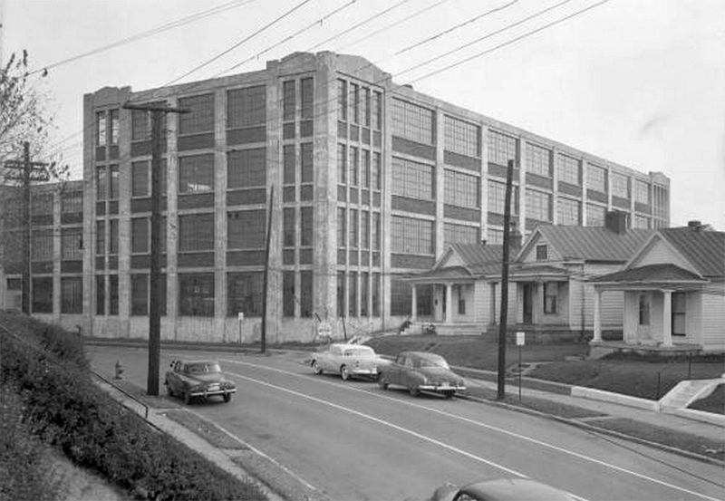 The Bradford Mills building in 1954. (Courtesy UL Photo Archives - Reference)