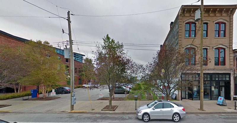 Rabbit Hole's main entrance will extend through this vacant parcel on East Market Street. (Courtesy Google)