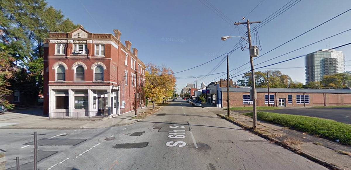 Sixth Street at Breckinridge Street. (Courtesy Google)