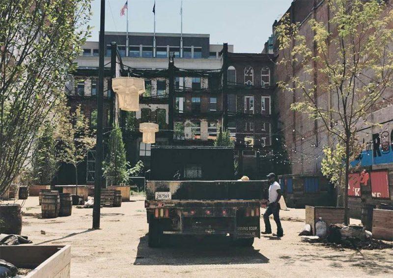 Loading up the trees at ReSurfaced. (Courtesy Patrick Piuma)