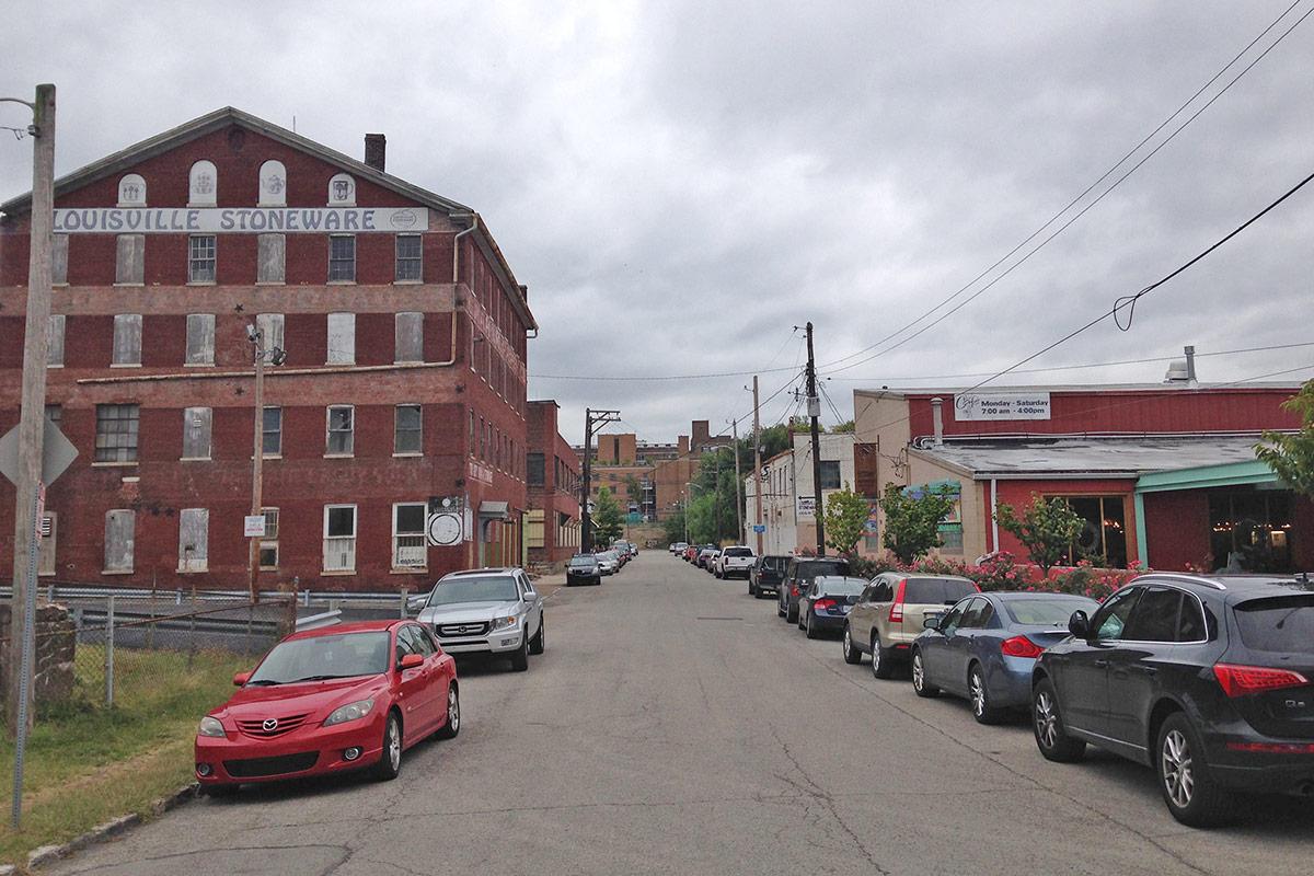 Looking south on Brent Street. (Branden Klayko / Broken Sidewalk)
