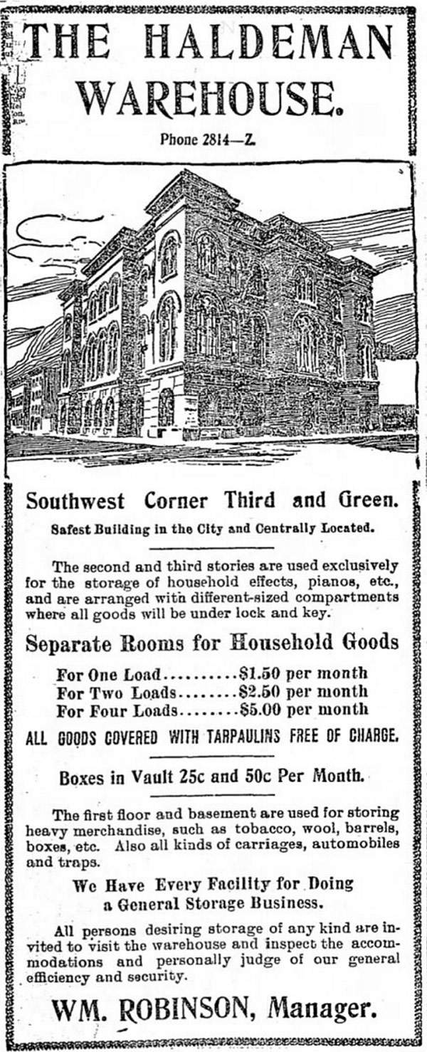 An advertisement from the Courier-Journal on Tuesday, July 9, 1901.