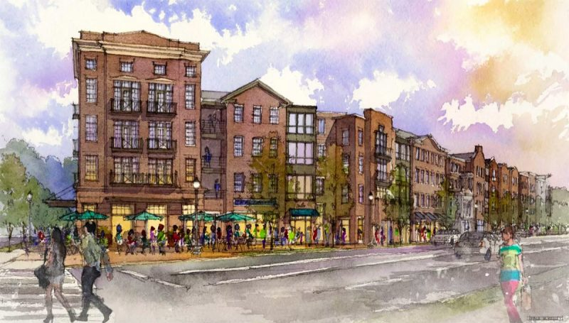 The Phoenix Hill Apartments would bring a mix of 281 units and 33,000 square feet of retail. (Courtesy Edwards Companies)