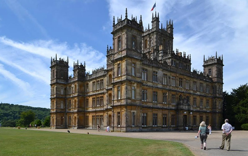 Highclere Castle was the set of Downton Abbey. (Janie-Rice Brother)