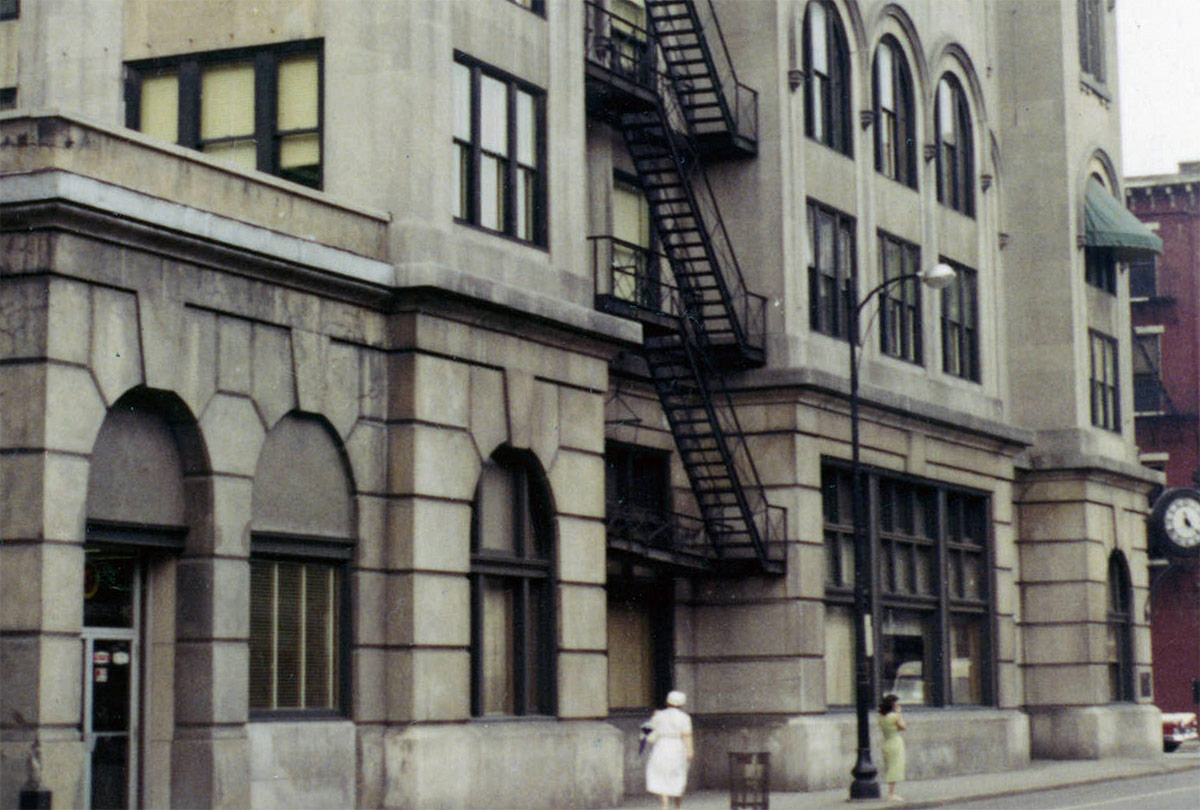 The Third Street facade circa 1956 - 1966. (Courtesy UL Archives - Reference)