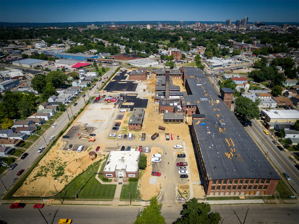 Construction at the Germantown Mill Lofts. (Courtesy Underhill Associates)