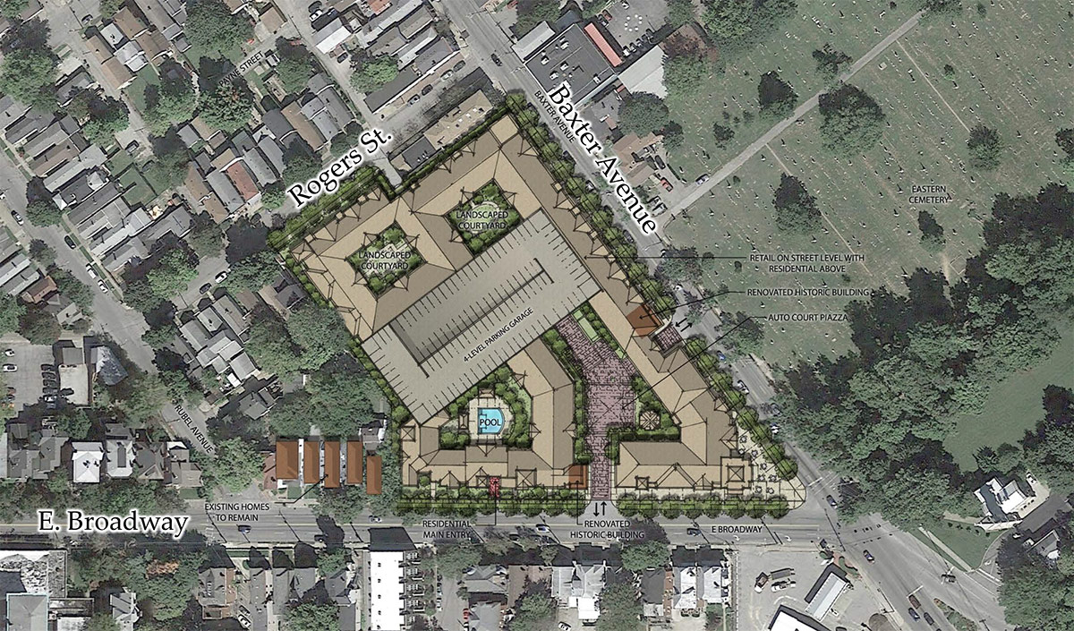 Site plan. (Courtesy Edwards Companies)