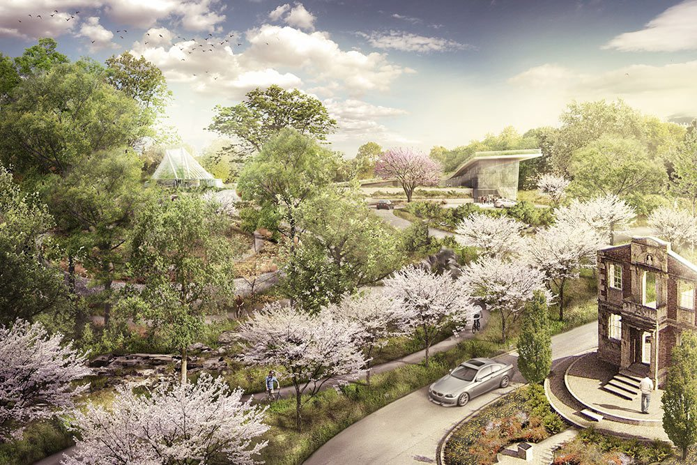 The future setting of the Heigold House at the entrance to Botanica's garden. (Courtesy Botanica)