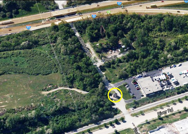 Location of the Heigold House facade on Frankfort Avenue. (Courtesy Google)