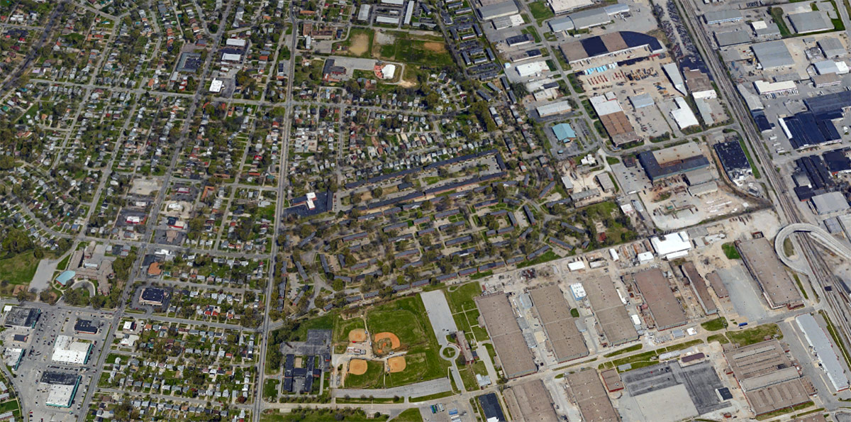 Heritage Green and the surrounding neighborhood. (Courtesy Google)