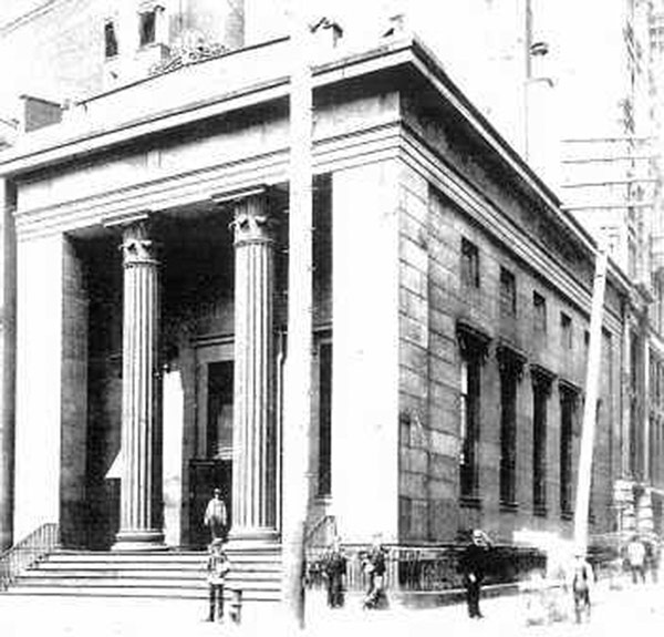 The Bank of America in New York, suspected of being Dakin's inspiration for his Louisville building.