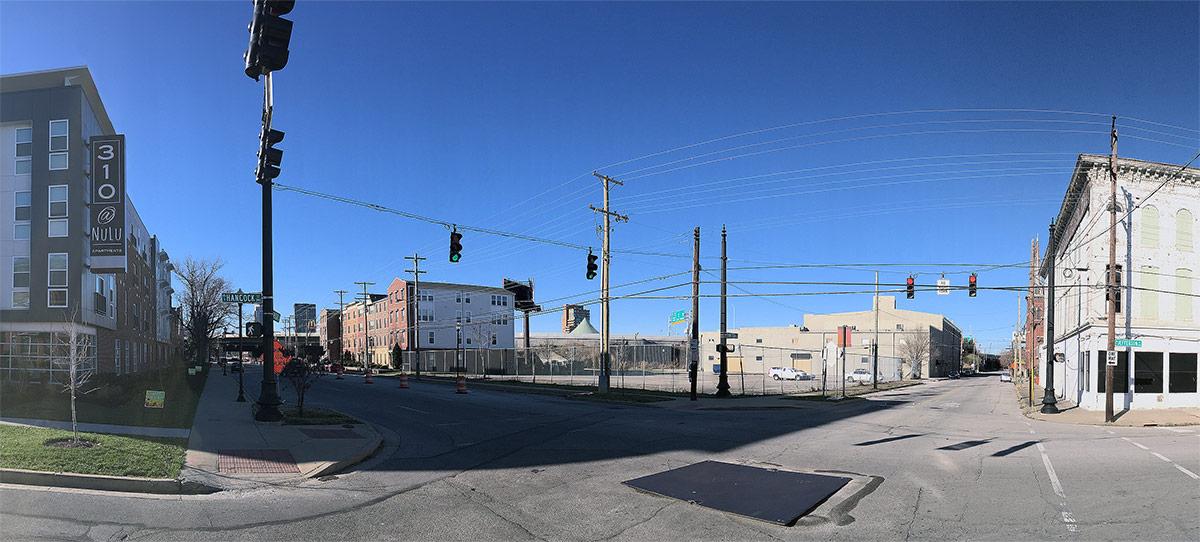 The hotel site on Jefferson and Hancock streets. (Branden Klayko / Broken Sidewalk)