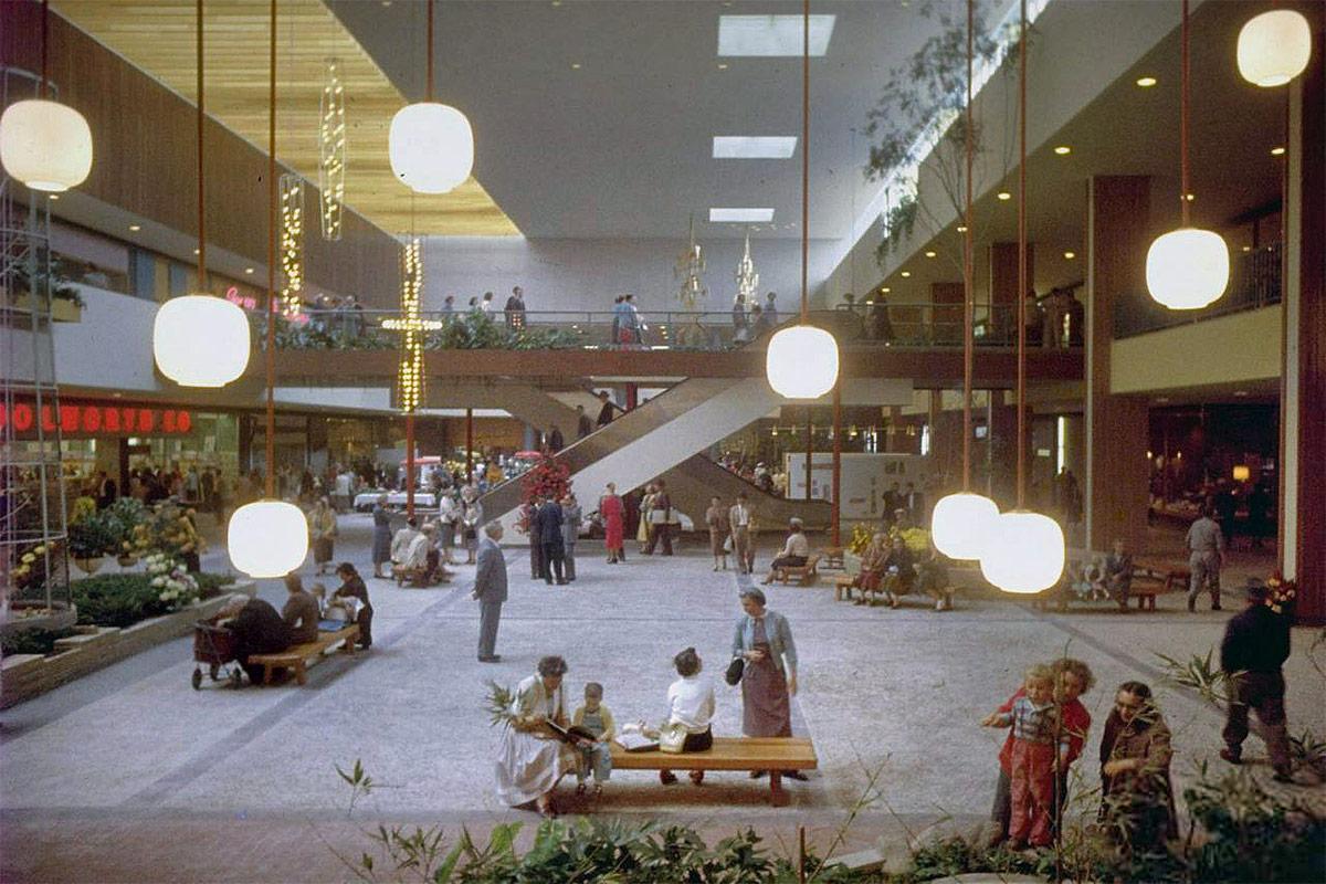 Edina, Minnesota's Southdale Center upon its opening in 1956. (Grey Villet / Life magazine photo archive / via Shorpy)