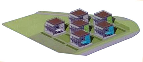 Conceptual layout of the Schnitzelburg Container Apartments. (Courtesy development team)