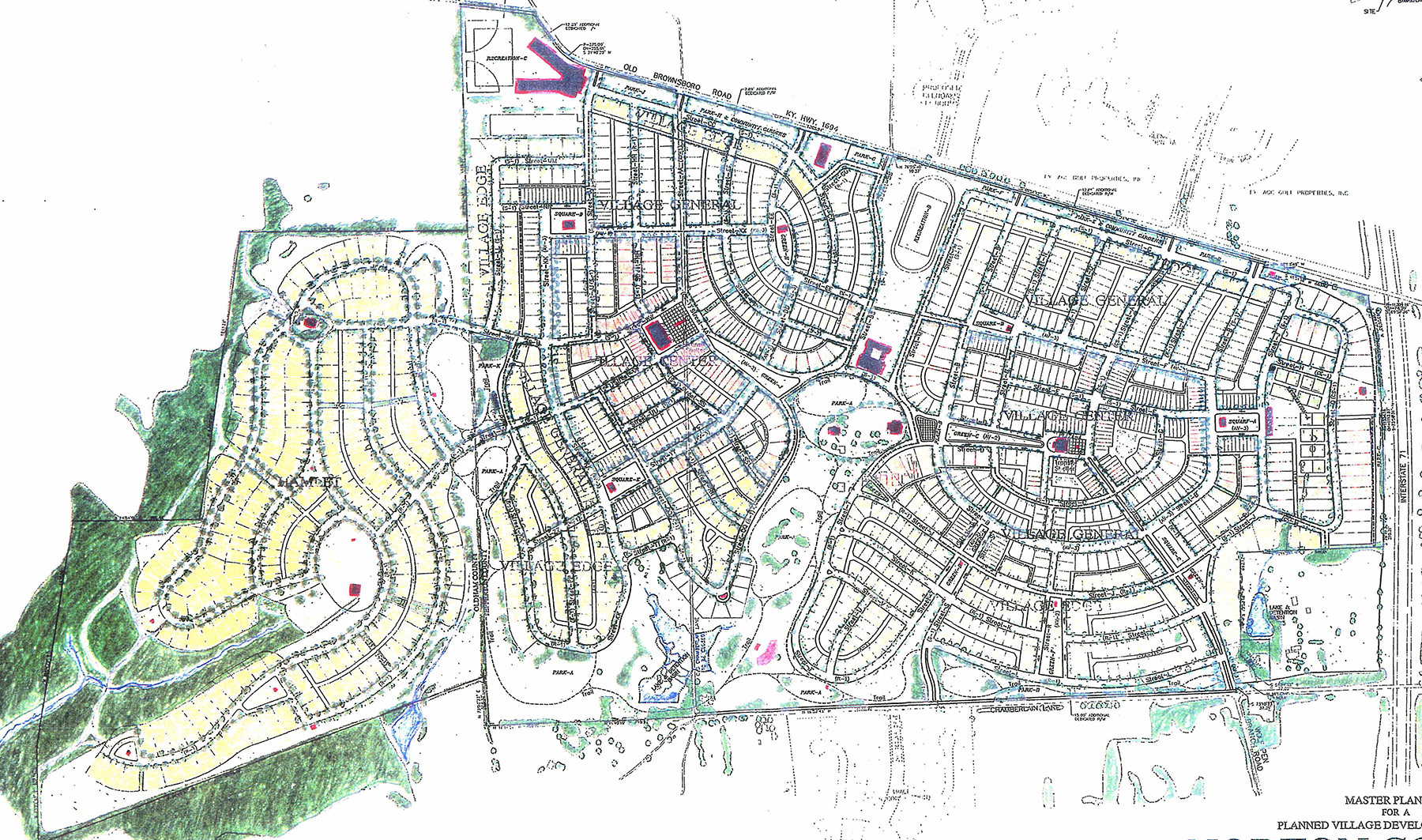 Master plan for Norton Commons.
