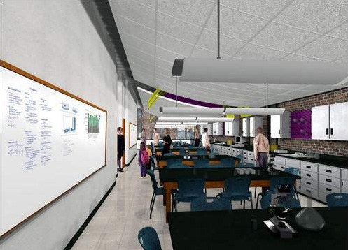 Rendering of lab space at the Alexander Building. (Courtesy Louisville Science Center)
