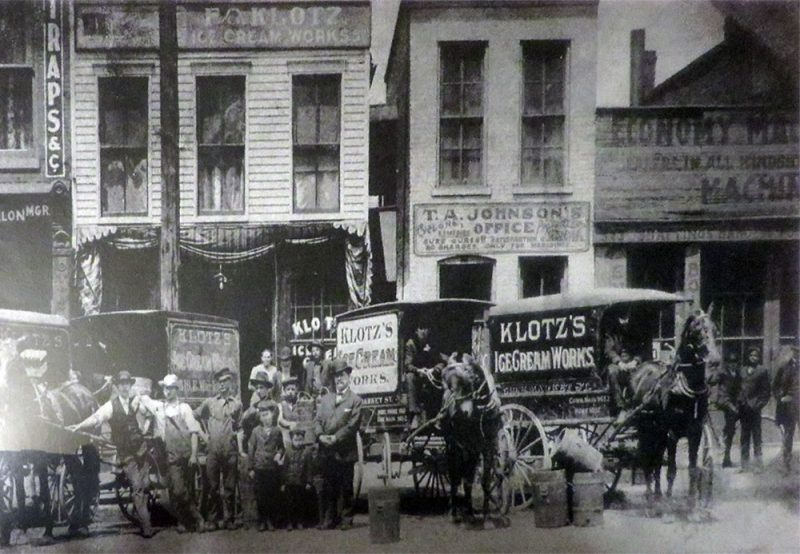 The original Klotz building at 519 East Market Street. (Courtesy NPS)