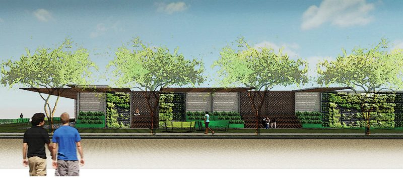 A concept rendering of a redesigned facade for the old, raised design. (Courtesy DPAW / MSD)