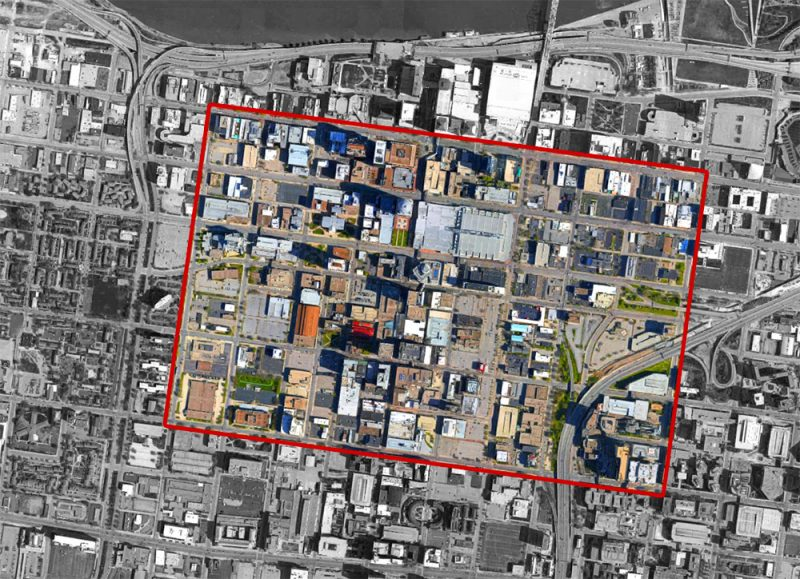 About 70 intersections within the indicated area now feature Leading Pedestrian Intervals. (Montage by Broken Sidewalk)