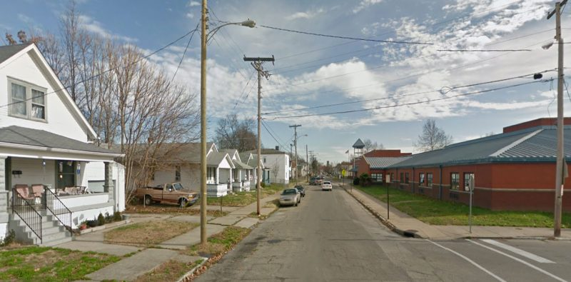 Looking east on Alford Avenue at Atkinson Elementary School. (Courtesy Google)