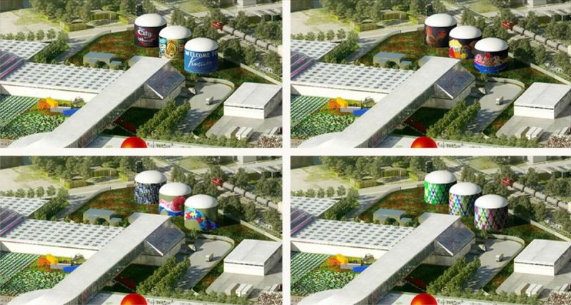 Architects had studied how to make the FoodPort's biodigesters for aesthetically pleasing, but they were eventually dropped from the project entirely. (Courtesy OMA)