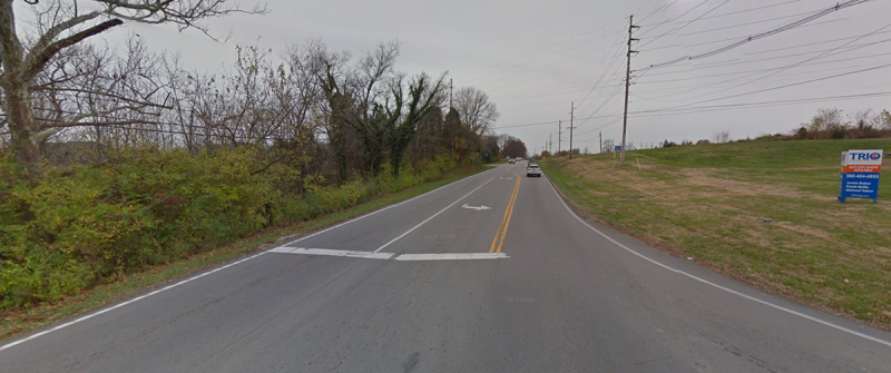 Looking west on Shelbyville Road from Flat Rock Road. (Courtesy Google)