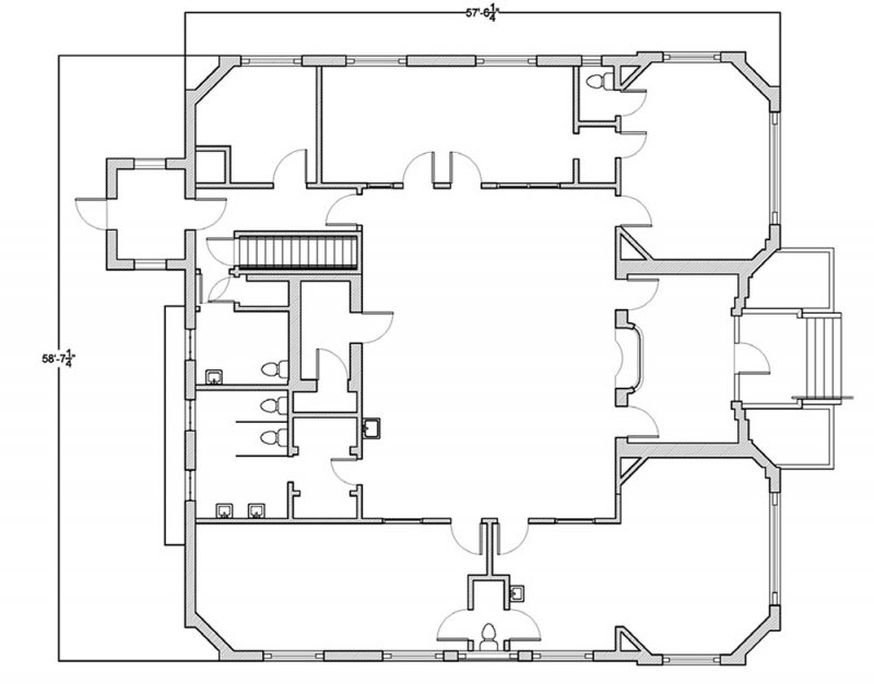 Administration Building floor plan. (Courtesy NPS)