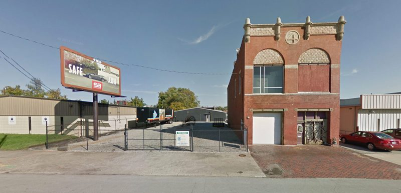The 1619 Flux space sits next to a historic fire station on Main Street, seen here before renovations. (Courtesy Google)