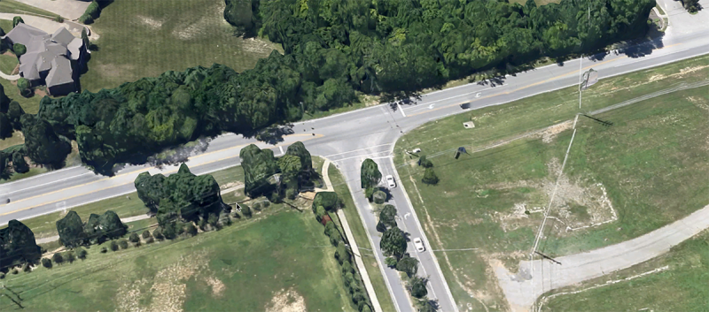 The intersection of Shelbyville Road and Flat Rock Road. (Courtesy Google)