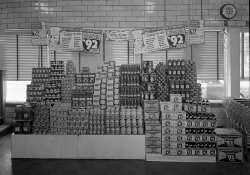 A scene inside a grocery store once on Oak Street. (UL Photo Archives - Reference below)