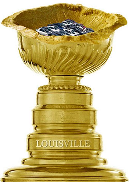 Louisville's Golden Crater trophy. (Courtesy Streetsblog)