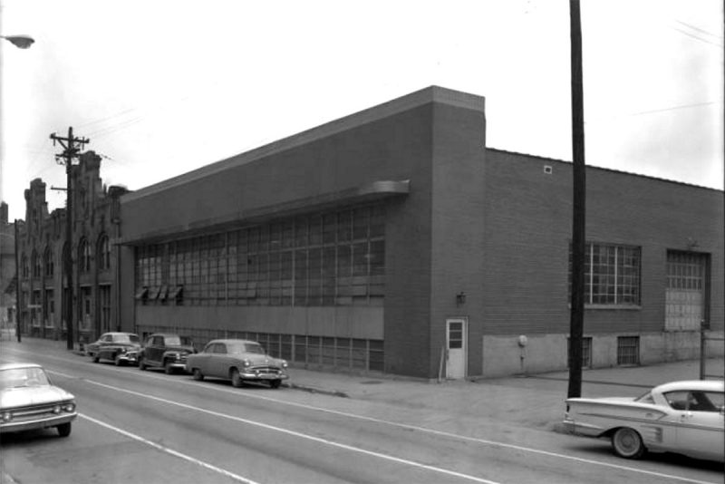 The structure today know as First Link Grocery seen here in 1963 as part of the Frank Fehr Brewery. (Courtesy UL Photo Archives - Reference)
