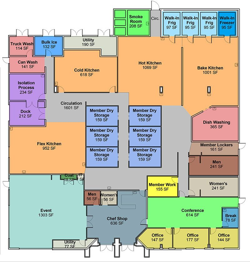 The layout of Chef Space. (Courtesy Chef Space)